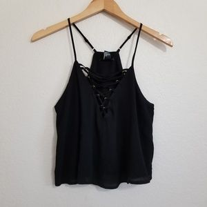 NWT Forever 21 Lace Black Crop Tank Top